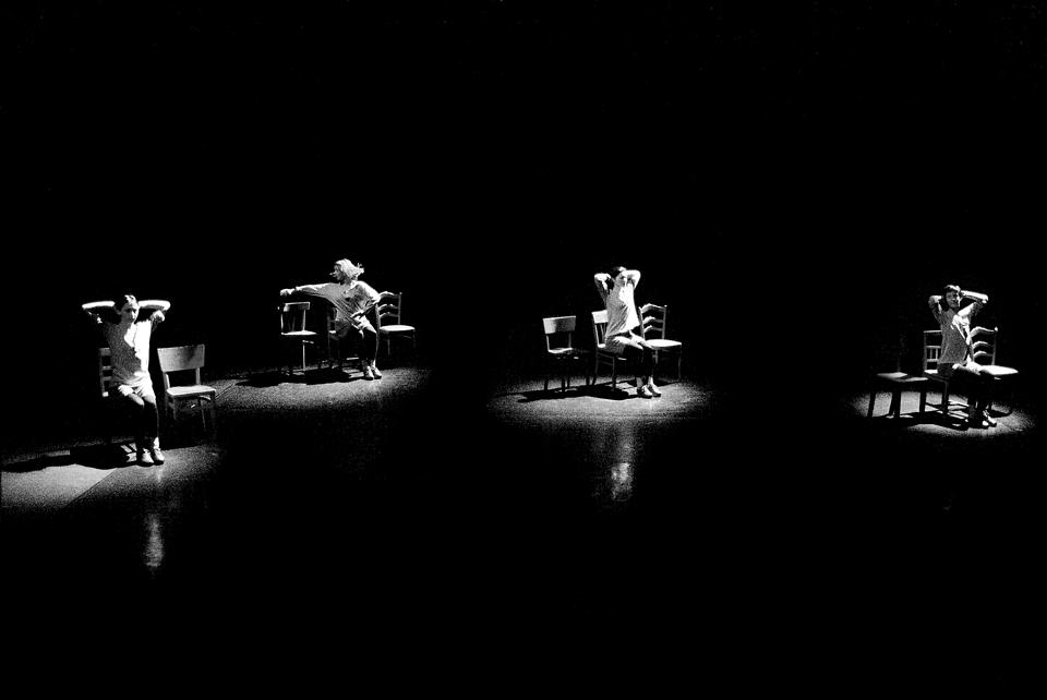 """Anne Teresa de Keersmaeker, """"Rosas danst Rosas,"""" performance in 2009"""
