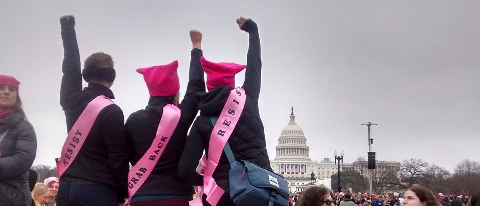 Womens March fists up