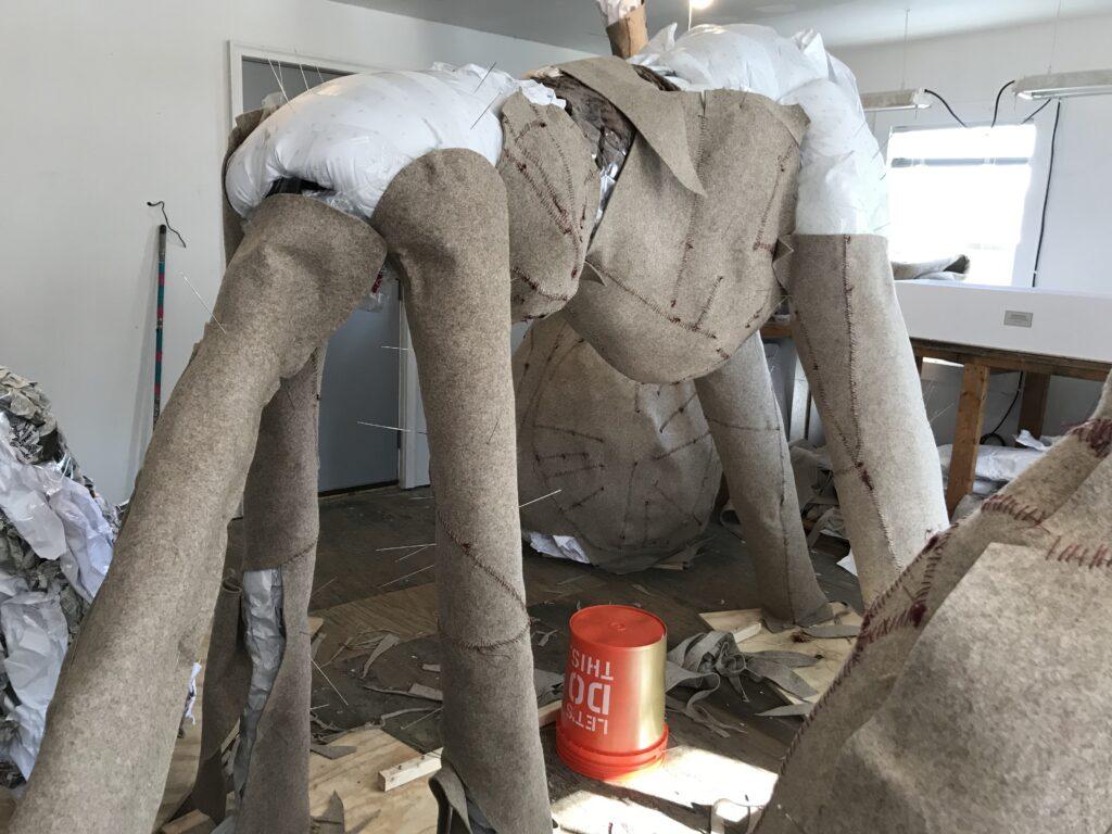 Felt sculpture in progress